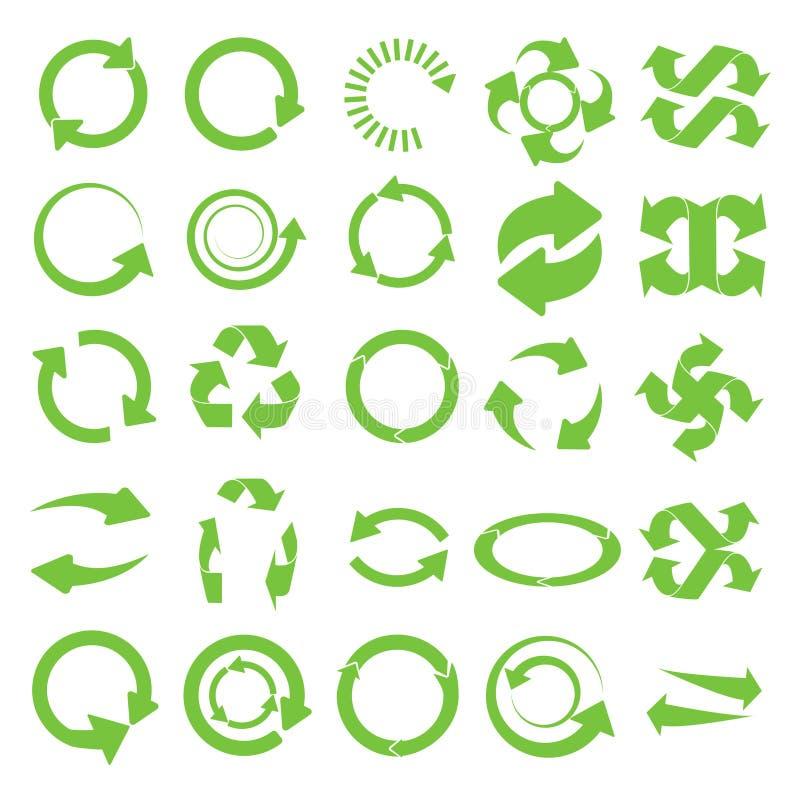 Le rond vert réutilisent illustration stock