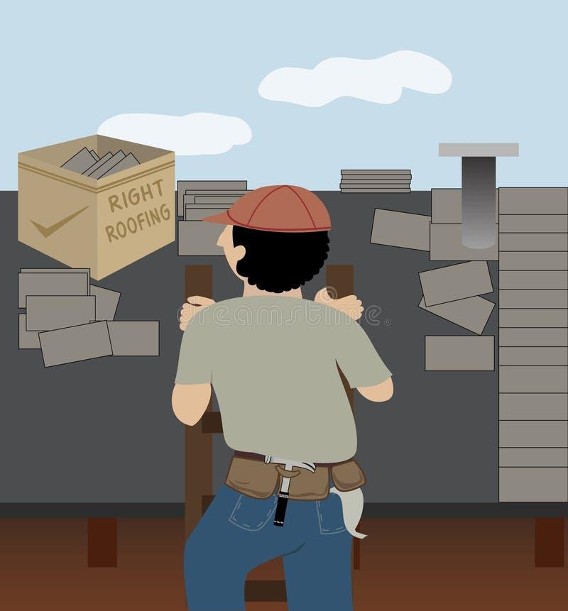 Le Roofer illustration stock