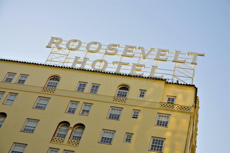 Le Roosevelt, Hollywood image libre de droits