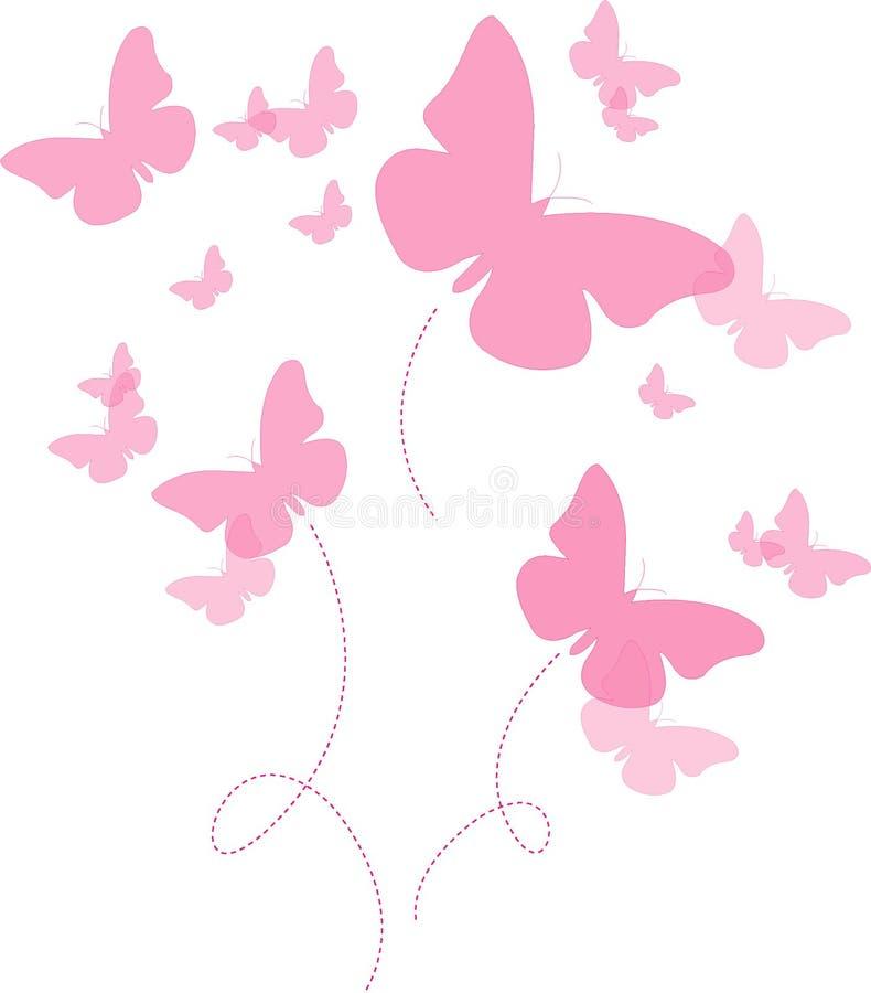 Le rose de papillon photographie stock libre de droits