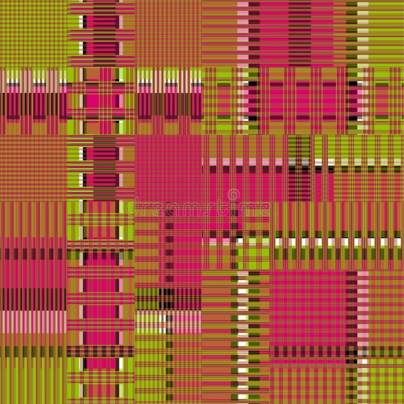 Le rose et beau fond géométrique des lignes et des polygones de vert dirigent l'illustration illustration stock