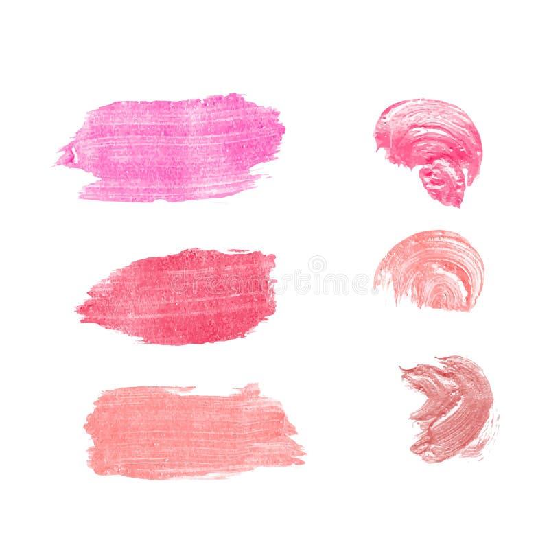 Le rouge à lèvres de vecteur enduit d'isolement images stock