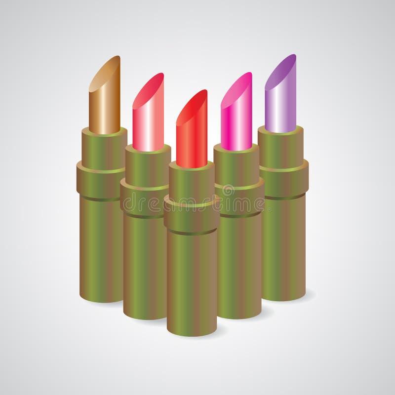 Le rouge à lèvres, a placé la couleur photographie stock libre de droits