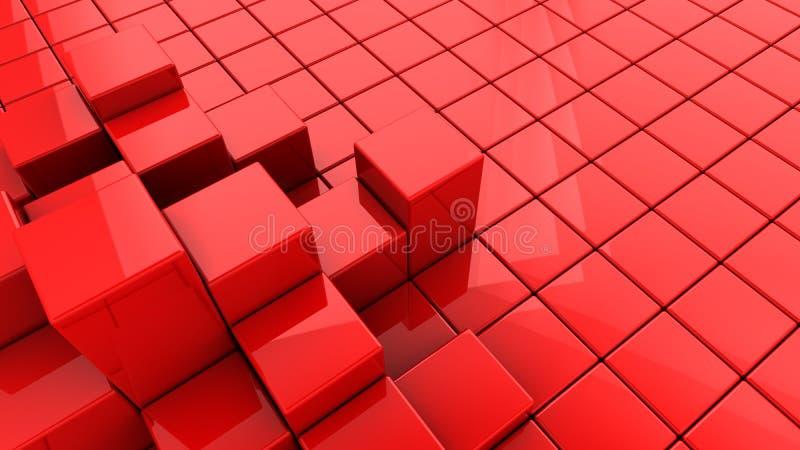 Le rouge cube le fond illustration stock
