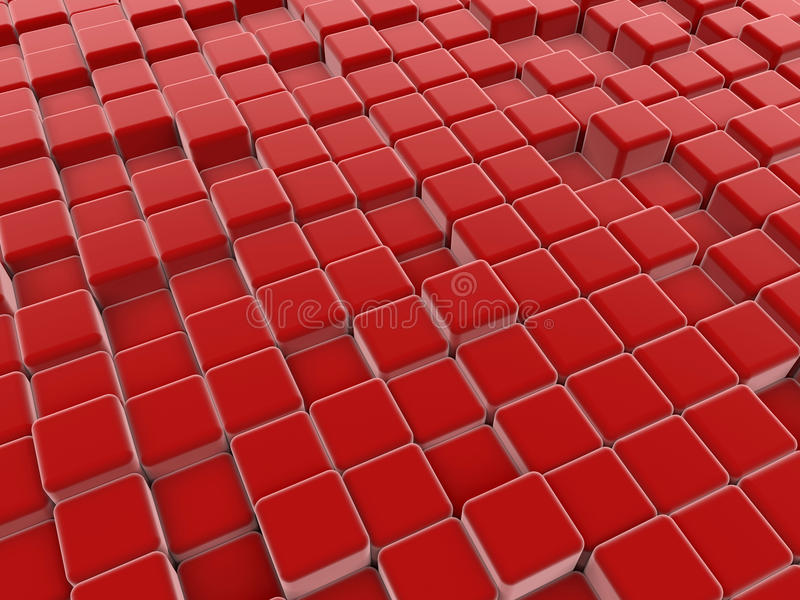 Le rouge cube le plancher abstrait illustration stock