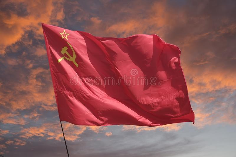 Le rouge de drapeau photo libre de droits