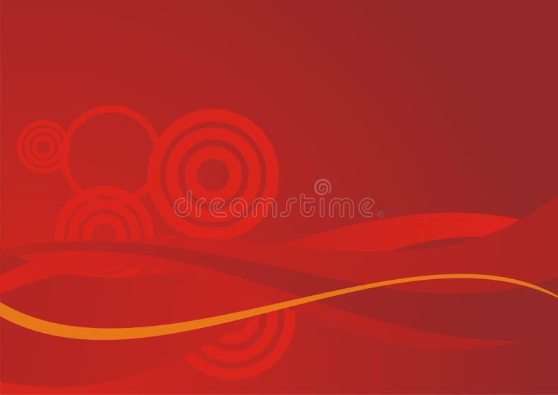 Le rouge ondule le fond photo libre de droits
