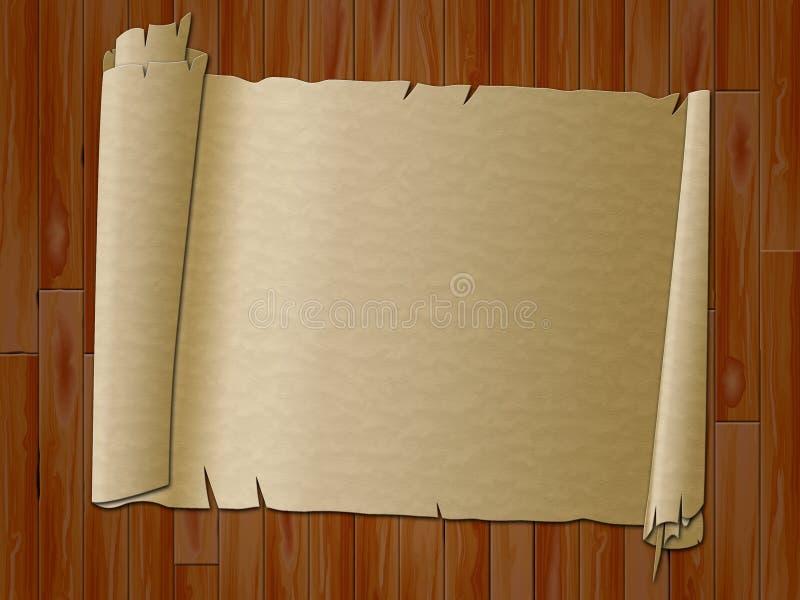 Le rouleau de papier indique le parchemin antique et encadrer illustration libre de droits