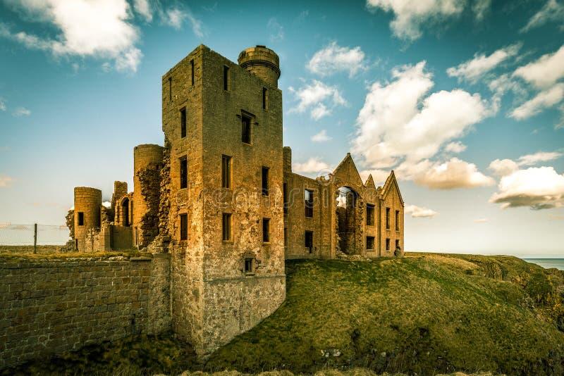 Le rovine del castello di Slains immagini stock libere da diritti