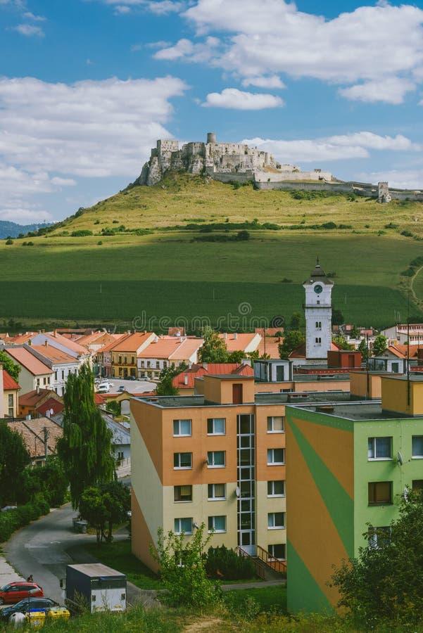 Le rovine del castello di Spis, Slovacchia immagine stock libera da diritti