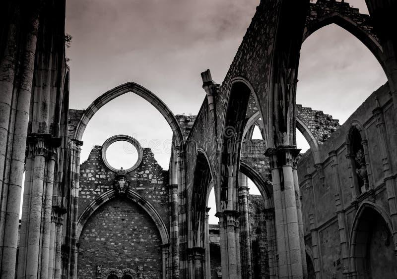 Le rovine del Convento fanno Carmo immagine stock
