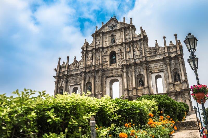 Le rovine del ` s di St Paul a Macao, Cina immagine stock