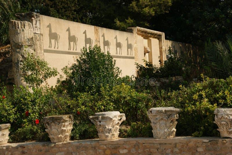 le rovine di Carthage immagini stock libere da diritti