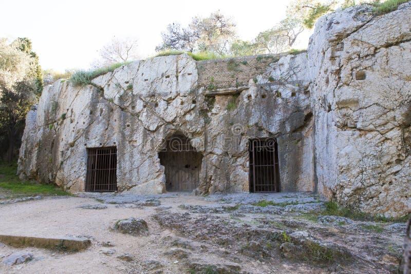 Le rovine di dove Socrates era incarcerato fotografia stock libera da diritti