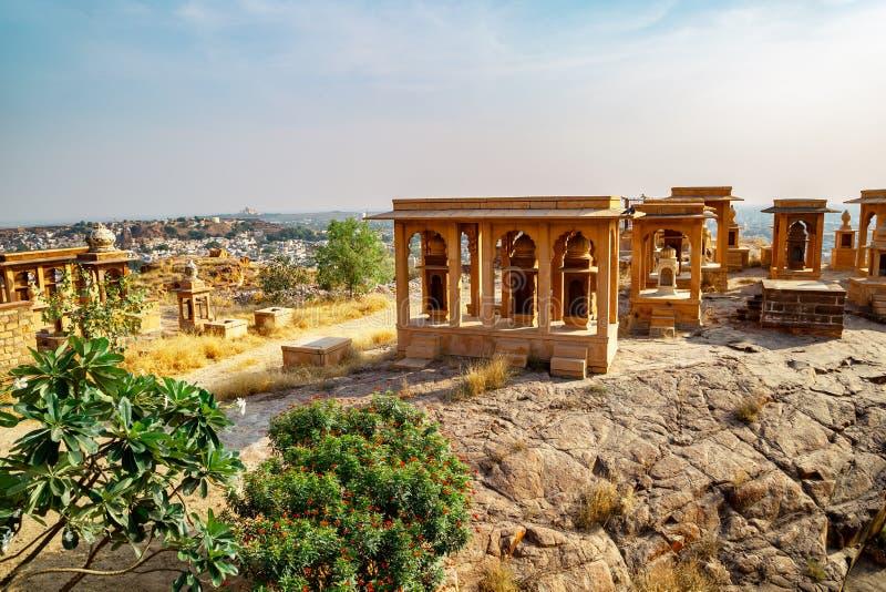 Le rovine di Jaswant Thada a Jodhpur, India fotografie stock