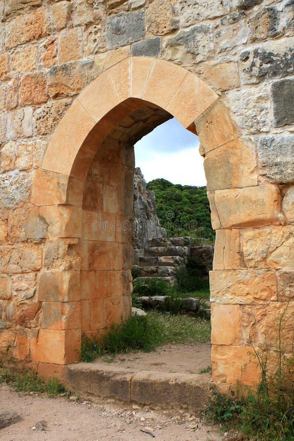 Le rovine di Montfort fortificano, l'Israele fotografia stock