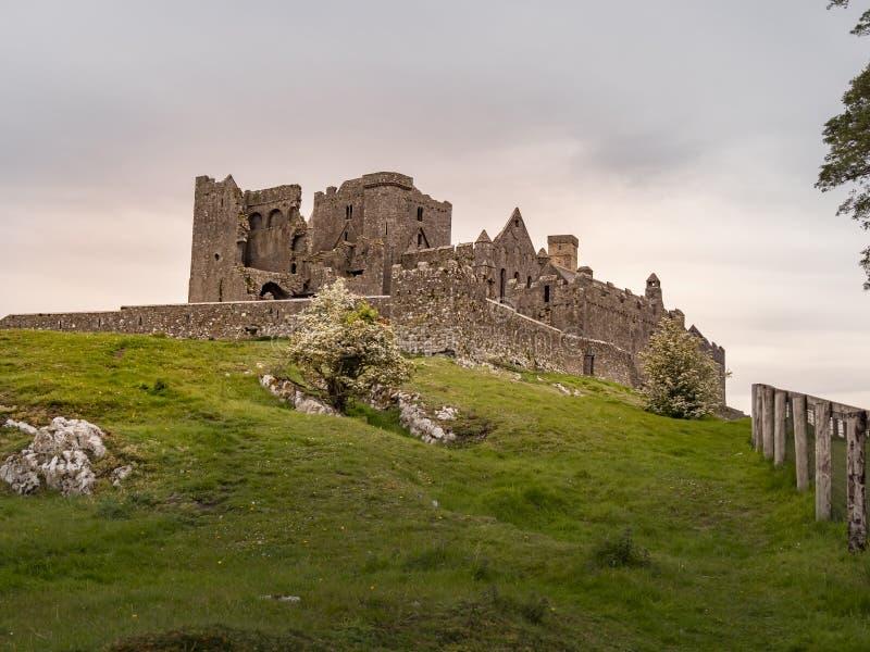 Le rovine iconiche di roccia di Cashel in Irlanda immagine stock