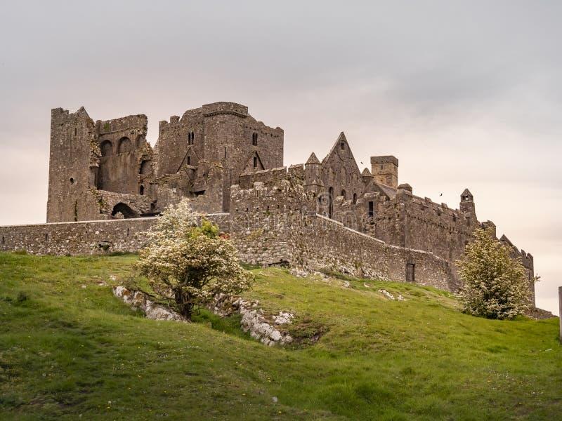 Le rovine iconiche di roccia di Cashel in Irlanda fotografia stock libera da diritti