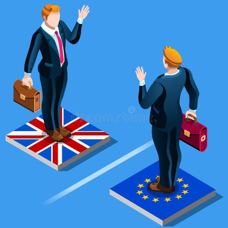 Le Royaume-Uni BRITANNIQUE Brexit de l'infographics d'Union européenne d'E. - illustration de vecteur