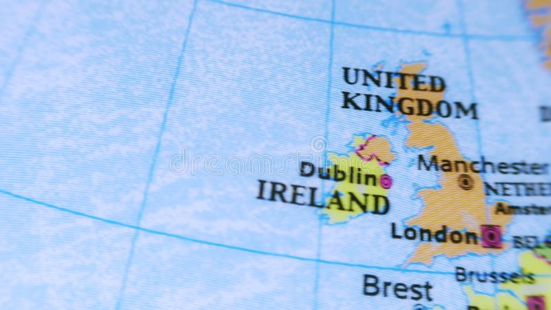 Le Royaume-Uni Globe terrestre 4K clips vidéos