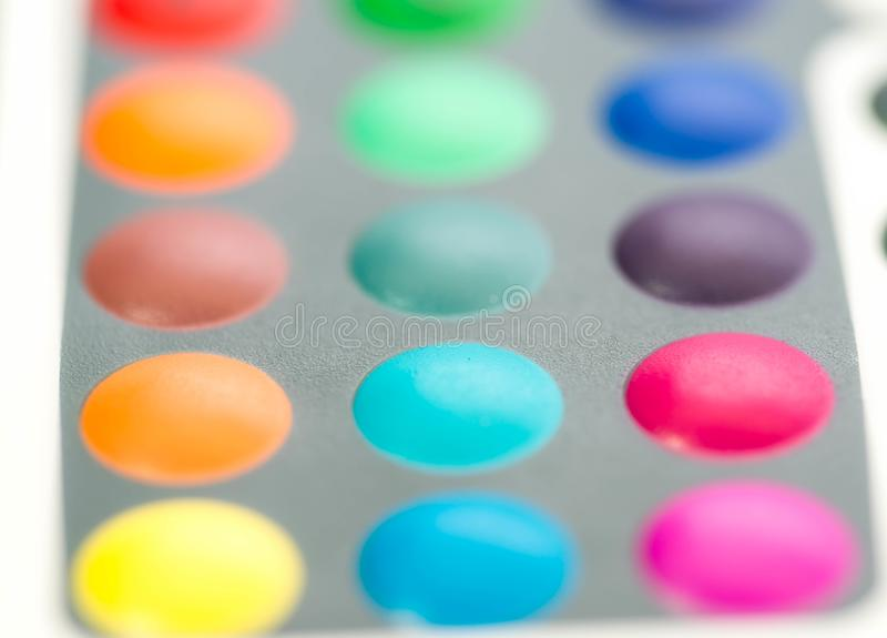 Le RVB coloré se boutonne sur les lampes menées de couleur à télécommande image stock