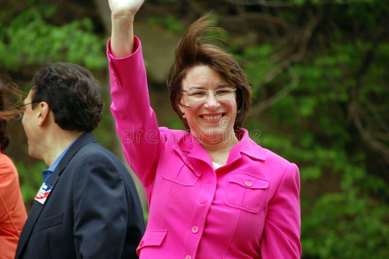 Le sénateur Amy Klobuchar photographie stock