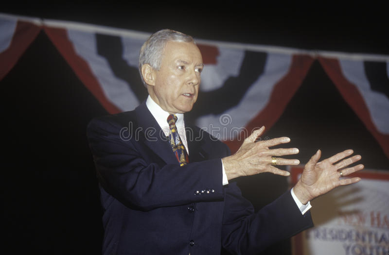 Le sénateur Orrin Hatch image stock