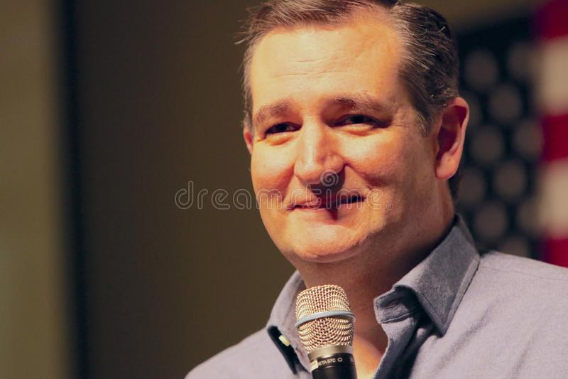 Le sénateur Ted Cruz de candidat présidentiel photos stock