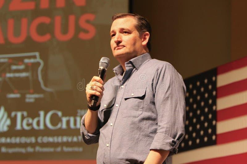 Le sénateur Ted Cruz de candidat présidentiel photo stock