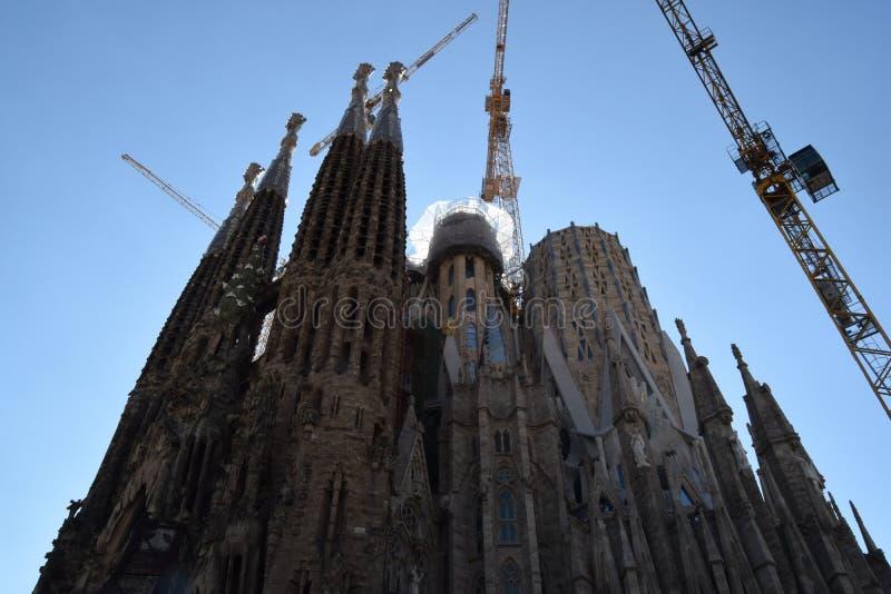 Le ` s Sagrada Familia de Gaudi à Barcelone, une nouvelle pyramide est né image stock