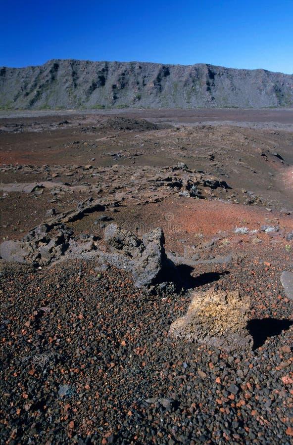 Le sabbie plain il paesaggio, Reunion Island fotografia stock libera da diritti