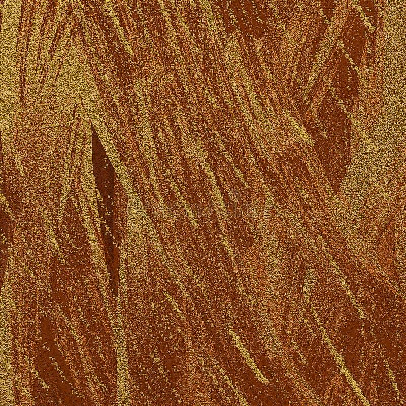 Le sable métallique poussiéreux brillant a donné au fond une consistance rugueuse abstrait Illustration teintée de courses de bro illustration de vecteur
