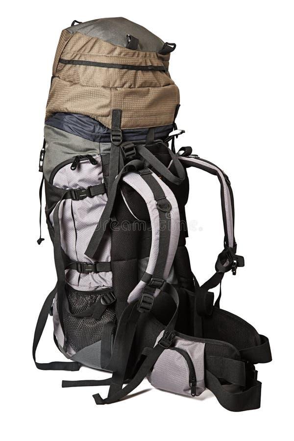 Le sac à dos de trekking a isolé photographie stock
