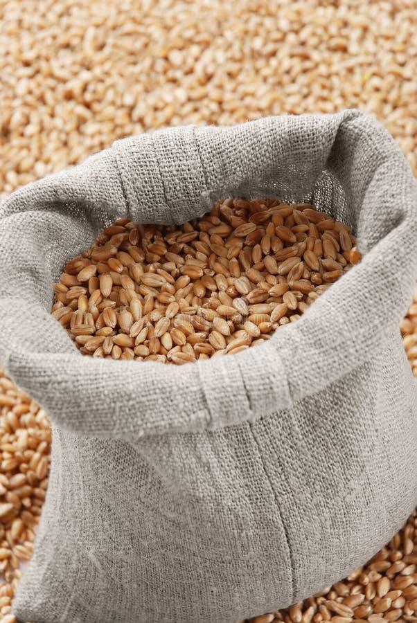 Le sac avec du blé images libres de droits