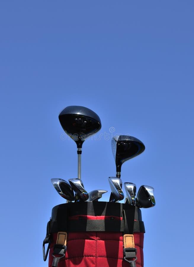 le sac matraque le rouge de golf photos libres de droits