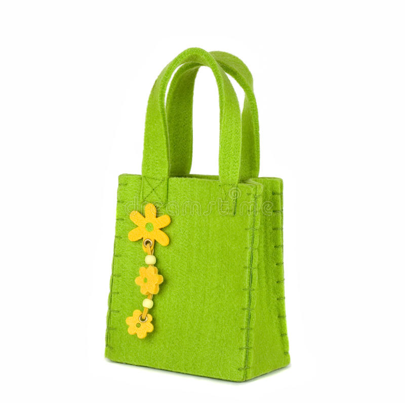 Le sac vert photographie stock libre de droits