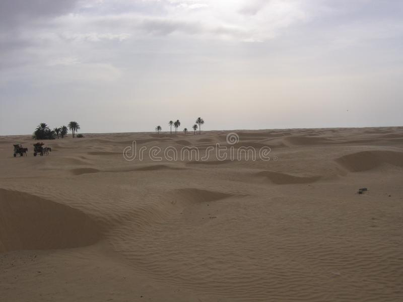 Le Sahara - la Tunisie images libres de droits
