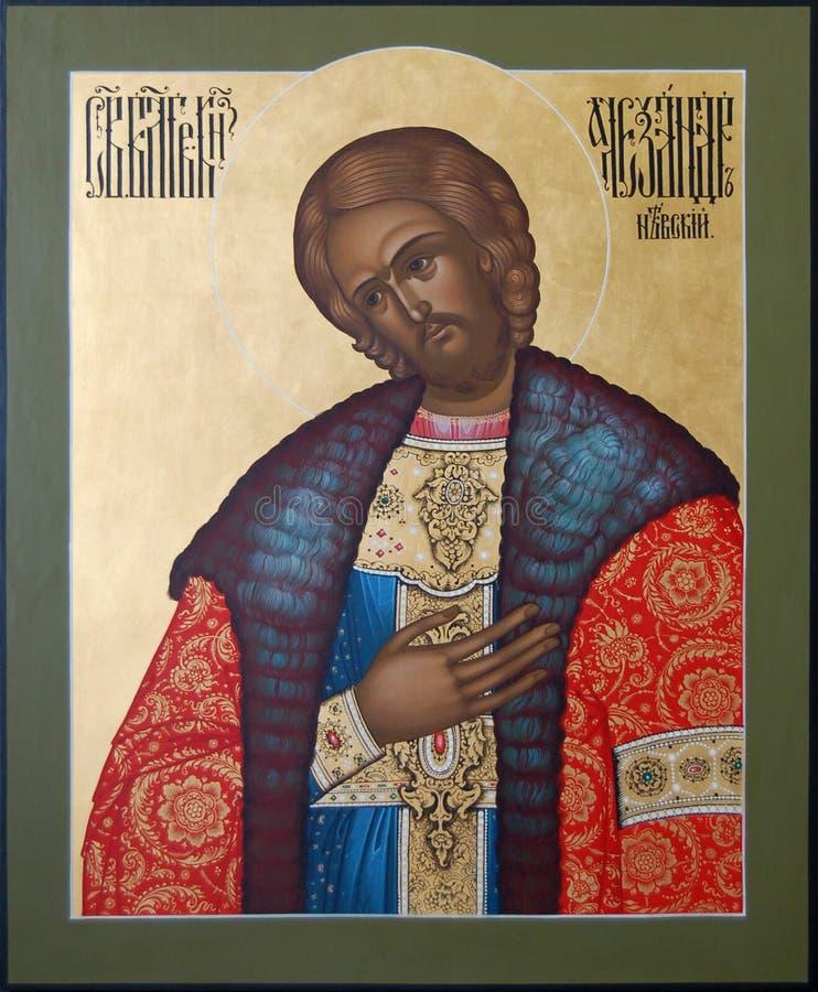 Le saint chrétien Alexander Nevsky Prince photographie stock libre de droits