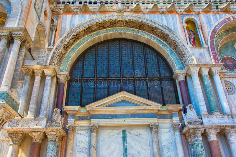 Le saint marque la basilique et le x28 ; Basilica di San Marco& x29 ; , Cathédrale Venise images libres de droits