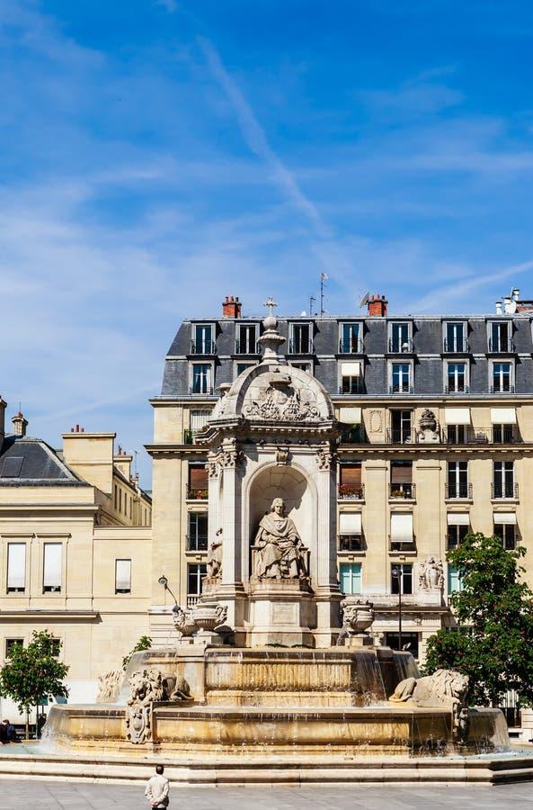 Le saint-Sulpice de fontaine ou la fontaine des quatre évêques paris photographie stock