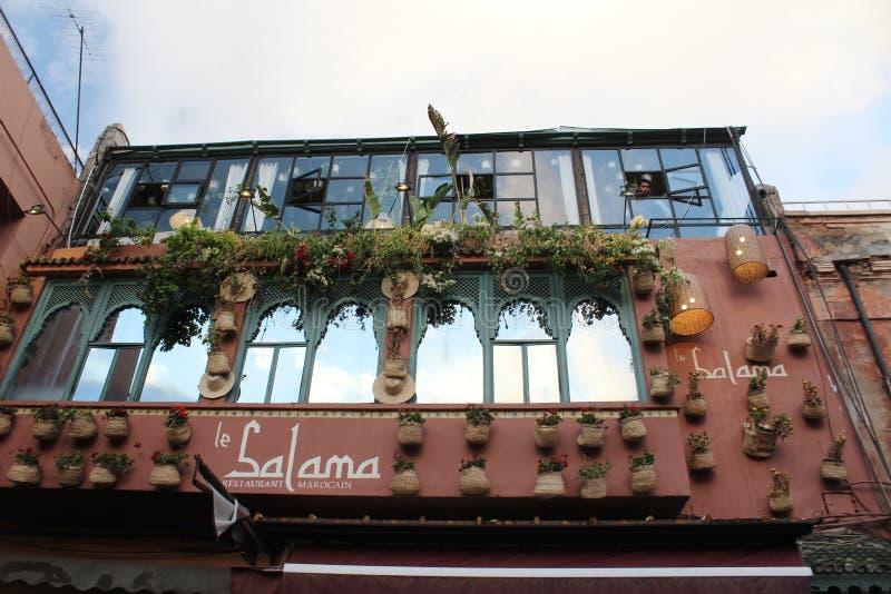 Le Salama - restauracja w Marrakesh obrazy royalty free