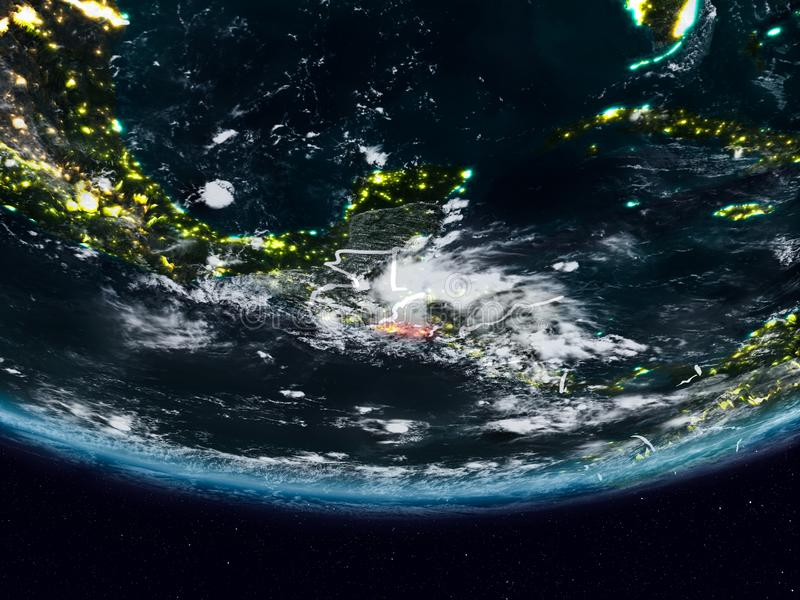 Le Salvador pendant la nuit image libre de droits