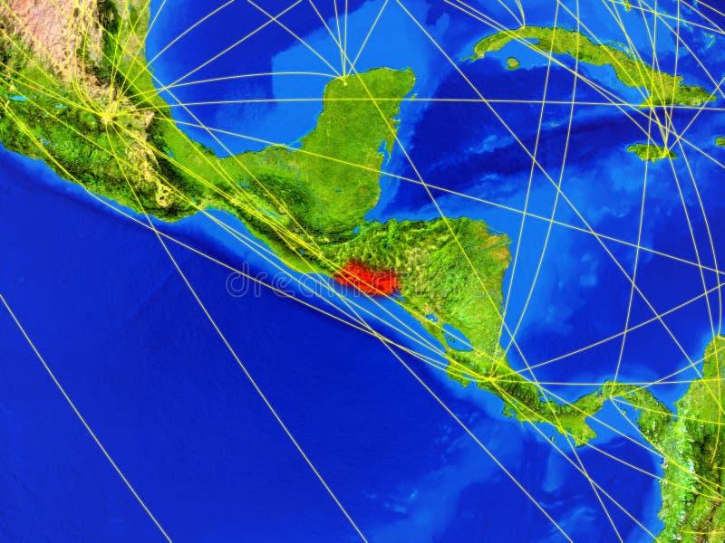 Le Salvador sur terre avec le réseau photo libre de droits