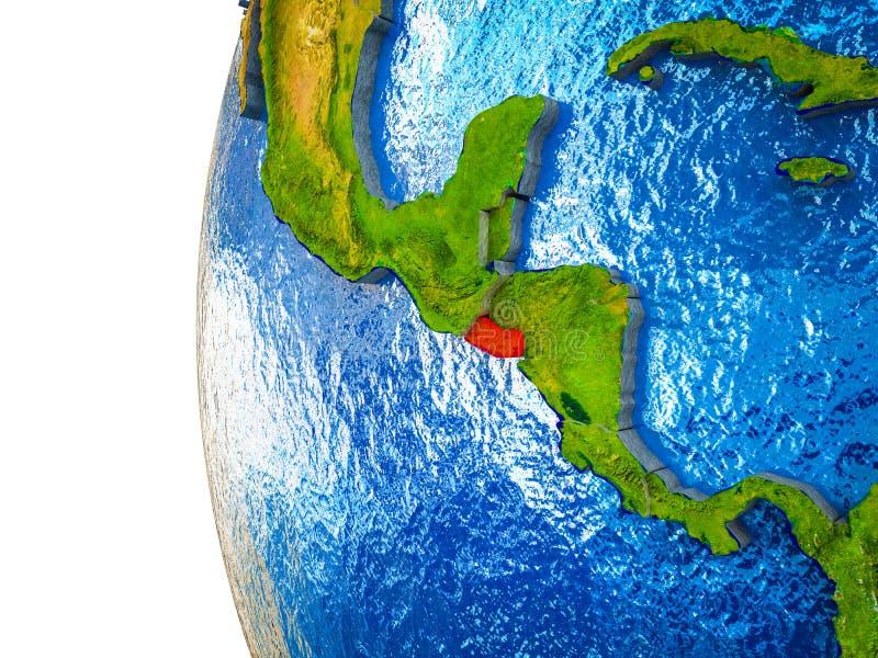Le Salvador sur terre 3D photos libres de droits