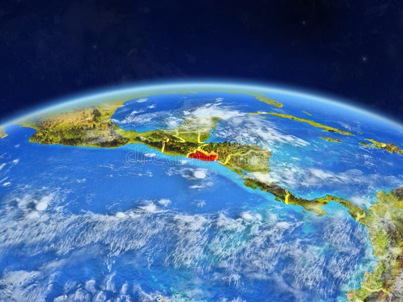 Le Salvador sur terre de l'espace photos libres de droits