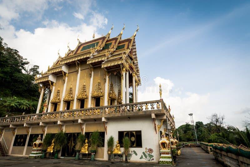 Le sanctuaire bouddhiste chez Khao a sonné le temple Wat Khao Rang photos libres de droits