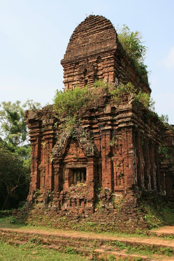 Le sanctuaire Cham de мой сын Вьетнам стоковое фото rf