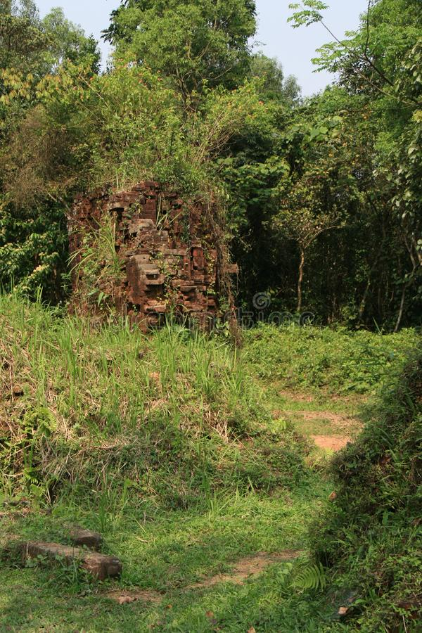 Le sanctuaire Cham de мой сын Вьетнам стоковая фотография rf