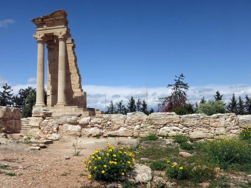 Le sanctuaire d'Apollo Hylates dans Kourion photographie stock