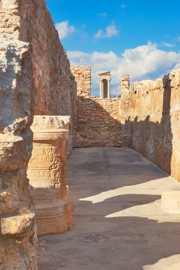 Le sanctuaire d'Apollo Hyllates, Chypre photos libres de droits